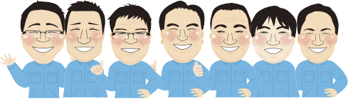 水道サービス 株式会社ジーエス スタッフの似顔絵